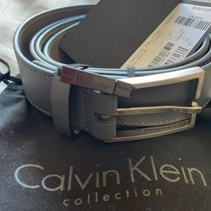 Closet clear NWT Calvin Klein gray belt size 95